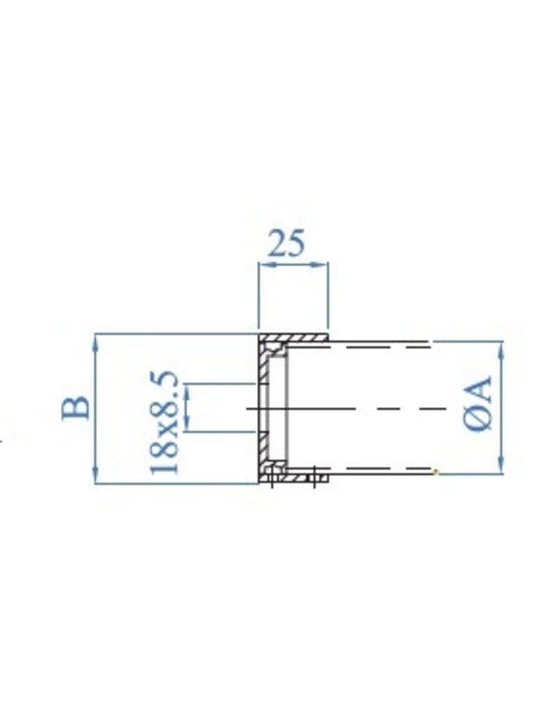 I AM Design Onzichtbare wandbevestiging voor leuning V2A