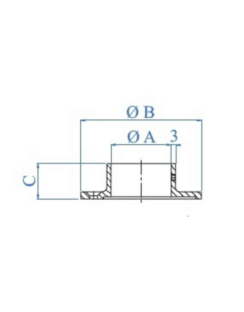 I AM Design wandbevestiging geslepen V2A K320 - verzonken boringen