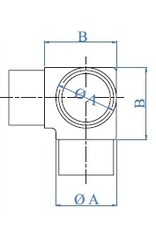 I AM Design Raccord poli T V2A