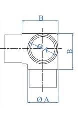 I AM Design Verbindingsstuk geslepen T V2A