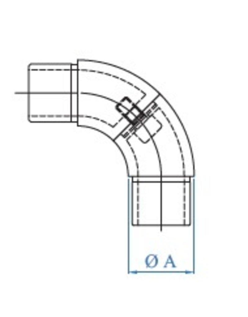 I AM Design Verbindingsstuk verstelbaar geslepen V2A