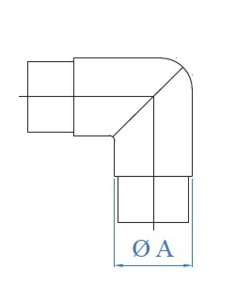 I AM Design Verbindingsstuk verstelbaar V2A