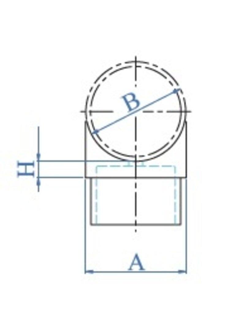 I AM Design Zadelstuk geslepen K320 V2A