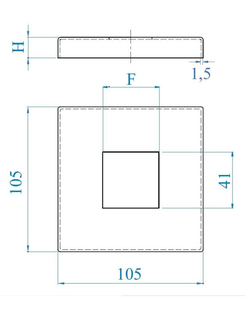 I AM Design CUBE - Rosaçe polie carré
