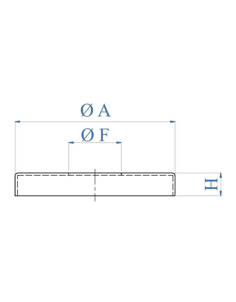 I AM Design Rosaçe poli  support de main-courante - Ø76mm