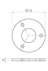I AM Design Platine de base poli - 3 trous