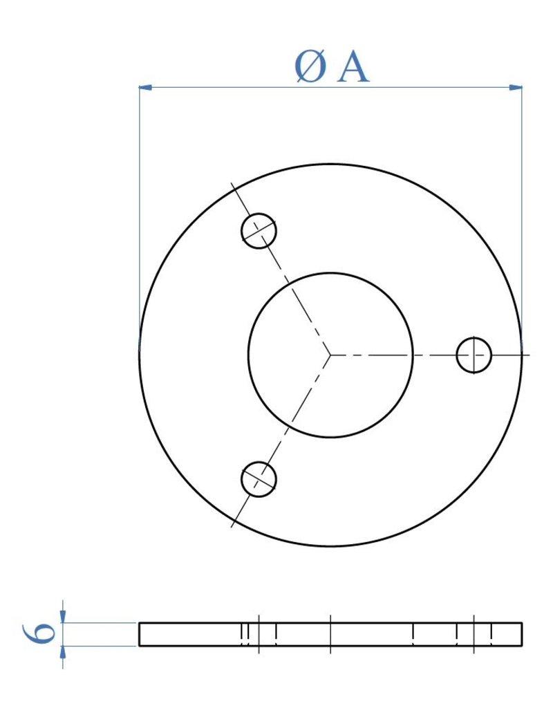 I AM Design Bodemplaat geslepen - 3 gaten
