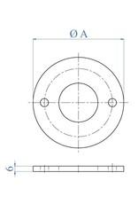 I AM Design Platine de base polie - 2 trous