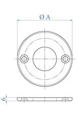 I AM Design Bodemplaat geslepen - 2 gaten verzonken
