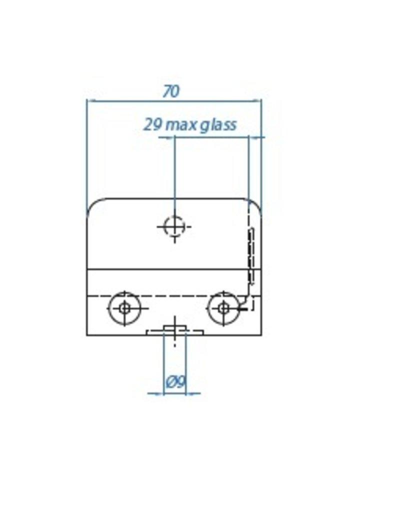 I AM Design Glasklem V2A 70x55x40mm - 48.3mm
