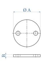 I AM Design Platine de base polie - 2 trous extérieur