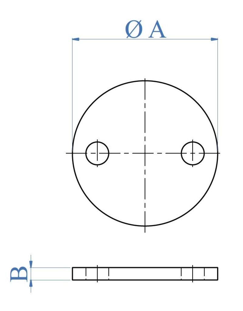 I AM Design Bodemplaat geslepen - 2 gaten buiten