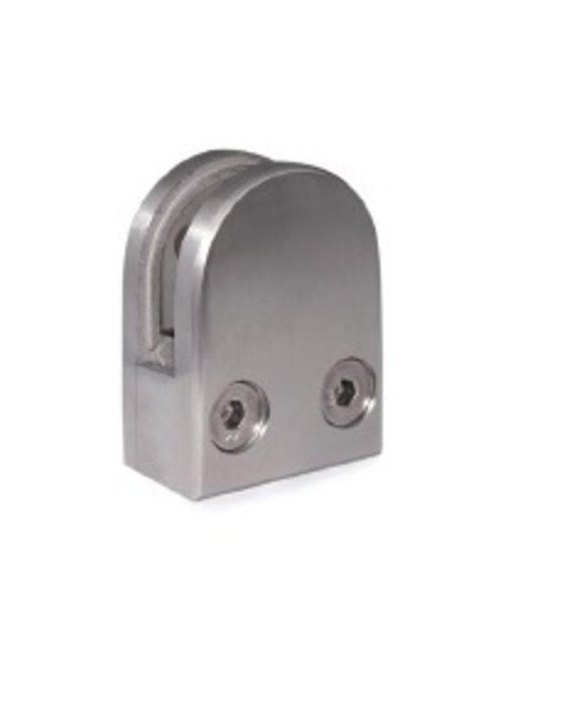 I AM Design Glasklem V2A model 10 - 50x40mm vlakke aansluiting
