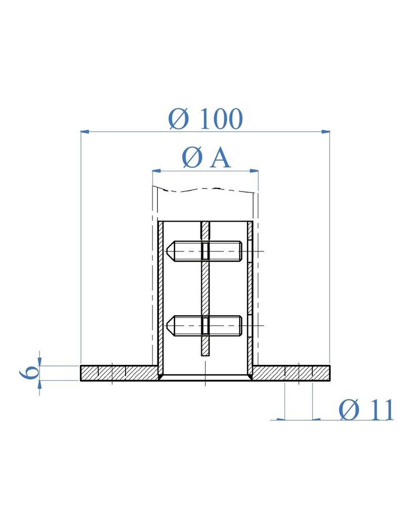 I AM Design Ancrage au sol poli - clé hexagonale