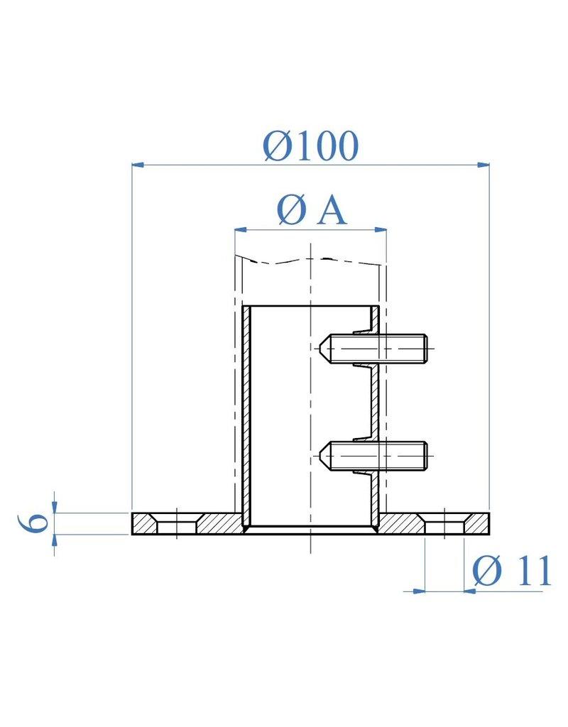 I AM Design Ancrage au sol poli - clé hexagonale - trous fraisés