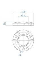 I AM Design Bodemplaat verstevigd - brut