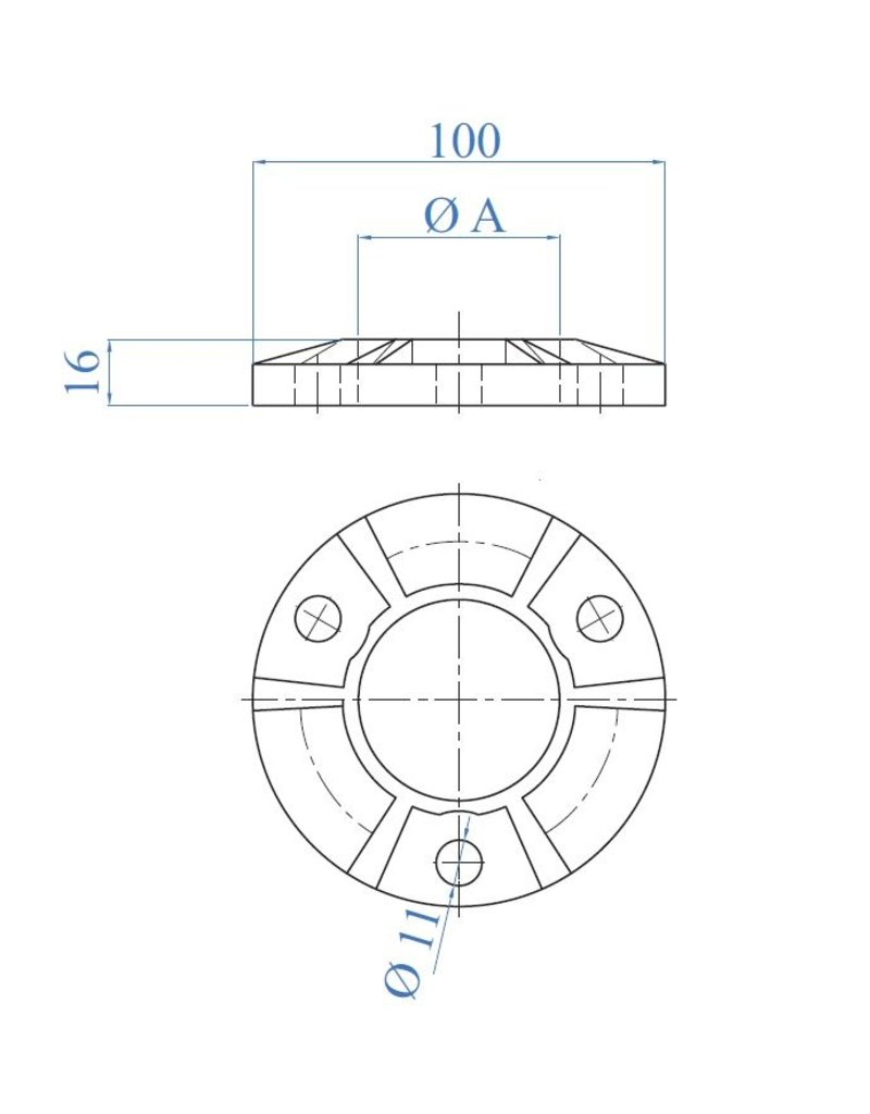 I AM Design Platine de base renforcée - brut