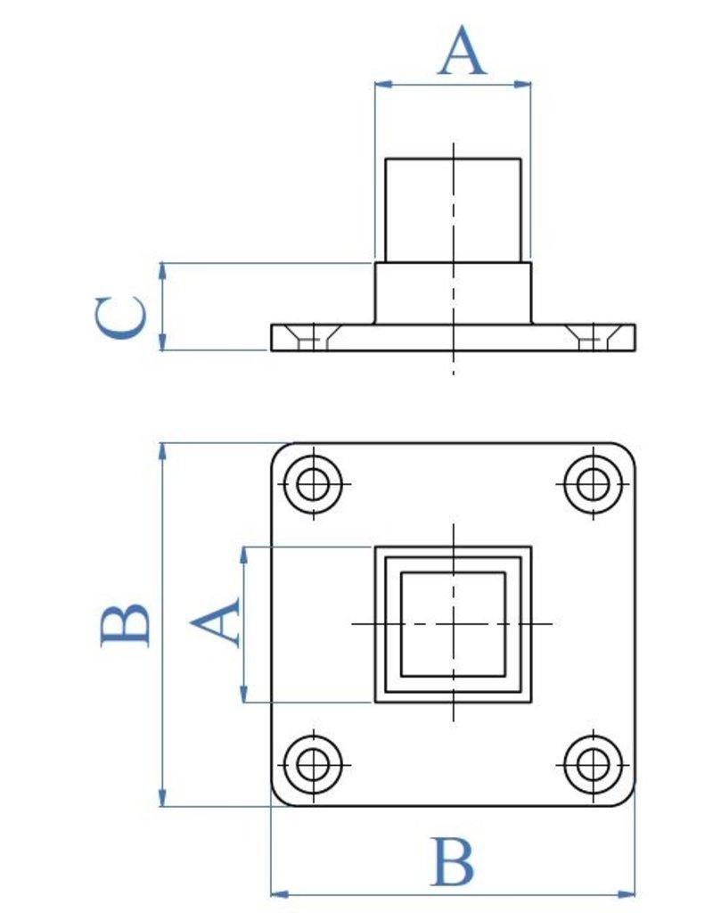 I AM Design CUBE - Ancrage au sol poli - glisser dessus