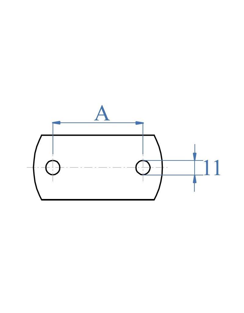Bodemplaat geslepen - ronde boringen