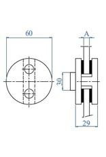 """I AM Design Pince à verre V2A dia 60mm - 2 3/8"""""""