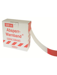 Afdekmateriaal Afzetlint 500m rood/wit, in dispenser