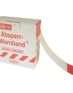 Afdekmateriaal Afzetlint 500m rood/wit, in dispenser