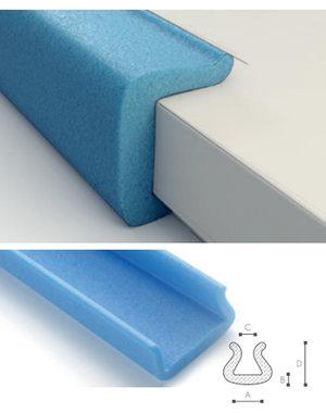 Afdekmateriaal Foam beschermprofiel U 60-80 (60 tot 80mm)  - Doos 40 stuks
