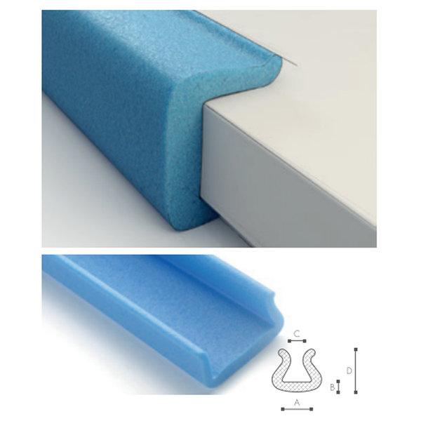 Afdekmateriaal Foam beschermprofiel U 100-120 (100 tot 120mm)  - Doos 22 stuks | schuimprofiel | kozijnbeschermer