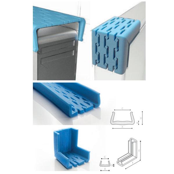 Afdekmateriaal Foam beschermprofiel U 100-120 STRETCH - Doos 22 stuks | schuimprofiel | kozijnbeschermer