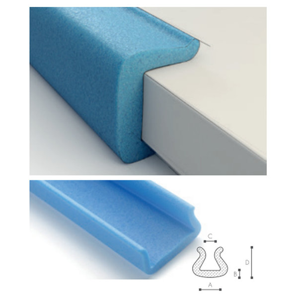 Afdekmateriaal Foam beschermprofiel U 45-60 (45 tot 60mm)  - Doos 50 stuks | schuimprofiel | kozijnbeschermer