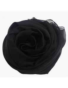 Seidenschal schwarz