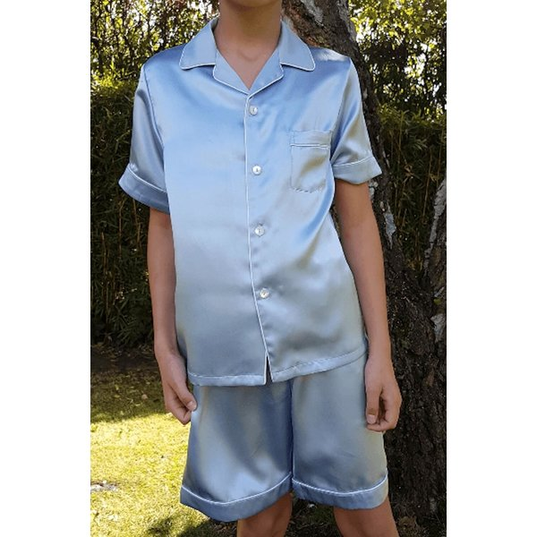 Seiden Nachtwäsche für Kinder (Kurz-Shirt und kurz Hose)