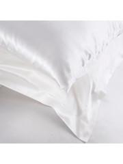 Seiden Kissenbezüge 19mm schneeweiß