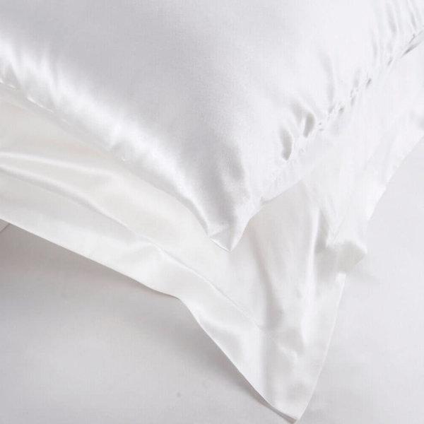 Seiden Kissenbezüge 19momme schneeweiß 100% Seide