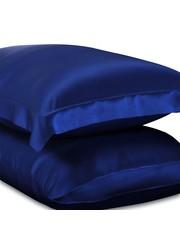 Seiden Kissenbezüge 19mm saphirblau