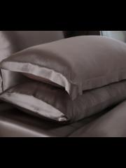 Seiden Kissenbezüge 19mm Schloss braun