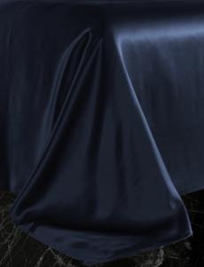 Seiden Bettlaken 22mm navy blau
