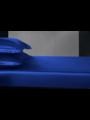 Seiden Spannbettlaken 19mm saphirblau