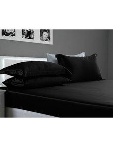 Seiden Spannbettlaken 19mm schwarz