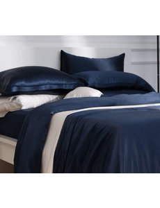 Seidenbettbezug 22mm navy blau
