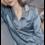Damen langärmliges Seiden Nachthemd