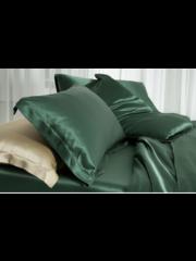 Seiden Kissenbezüge 19mm Waldgrün