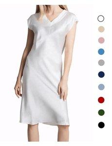 Damen Seiden Pyjama Kleid