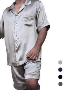 Herren Seiden Pyjama Set kurz