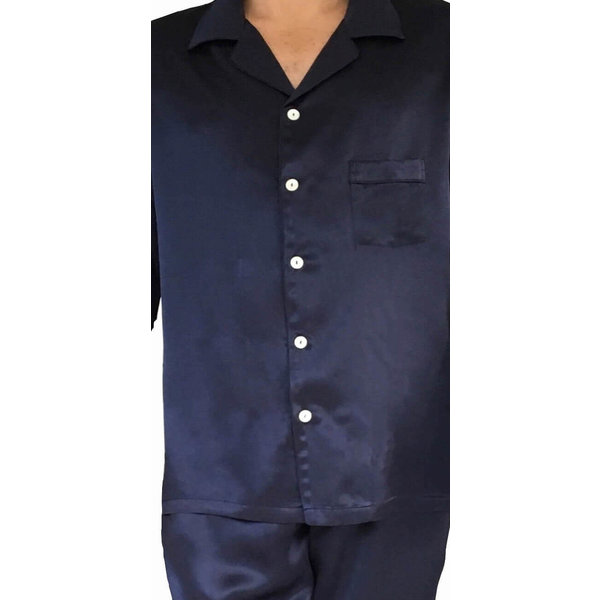 Seiden Pyjama Set für Herren( Kurzarm Shirt, kurze Hose)