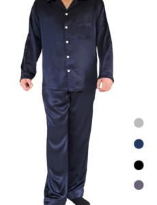Herren Seiden Pyjama Set lange
