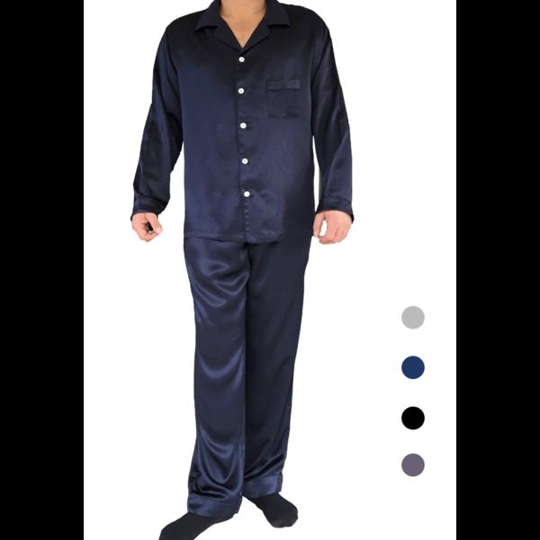 Seiden Pyjama Set für Herren( Langarm-shirt, lange Hosen)
