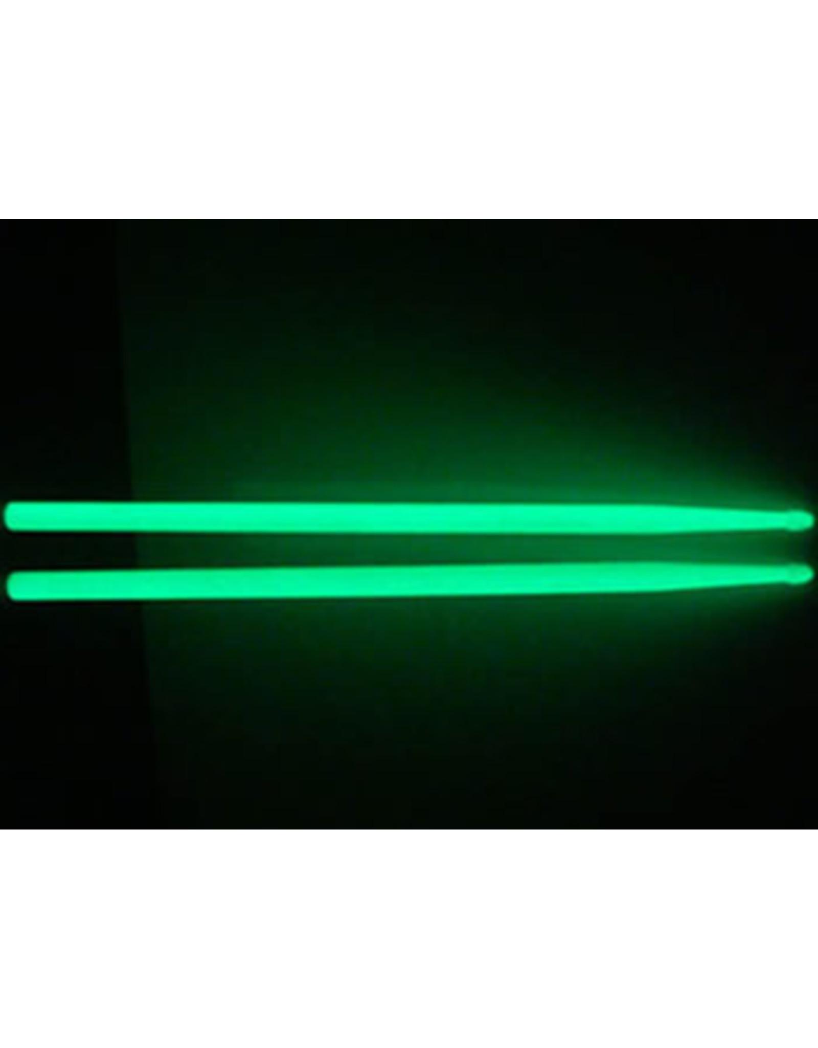 Ramm® Lichtgevende Drumstokken 5A | Groen | Nylon