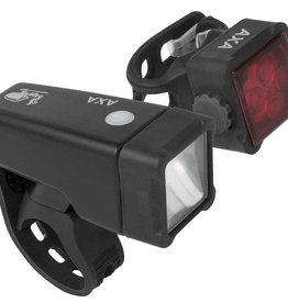 AXA Niteline T4-R USB Light Set (1 LED/4 LED)