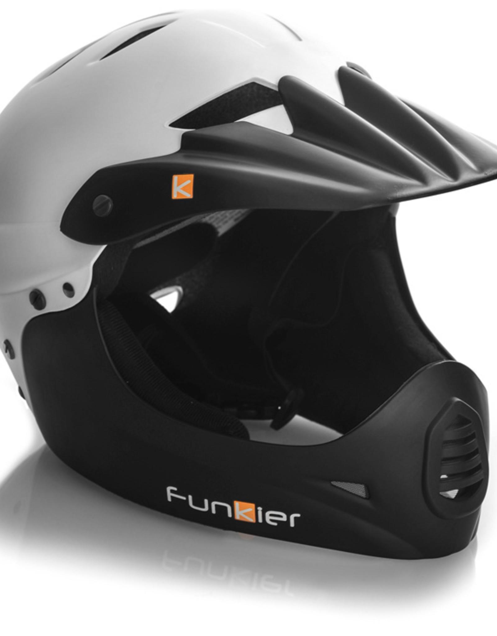 Funkier Sirius Downhill Full Face Helmet in White/Black